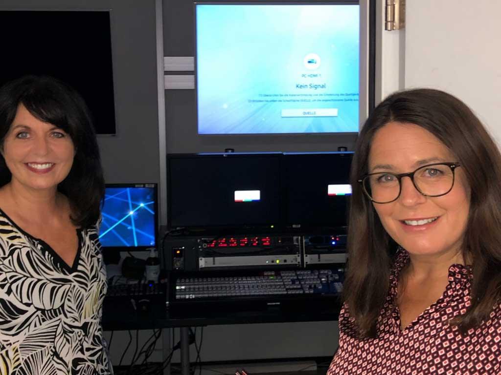 Sylvia Reim auf Besuch bei ORF Drei