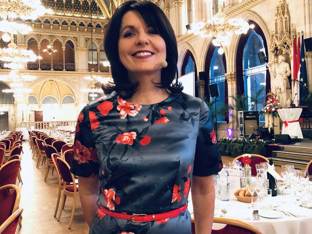 Gala Moderation im Wiener Rathaus mit Sylvia Reim