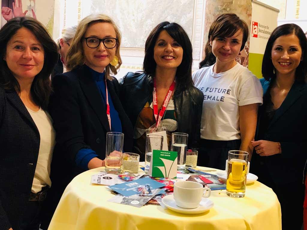 Journalistinnenkongress Wien mit Sylvia Reim