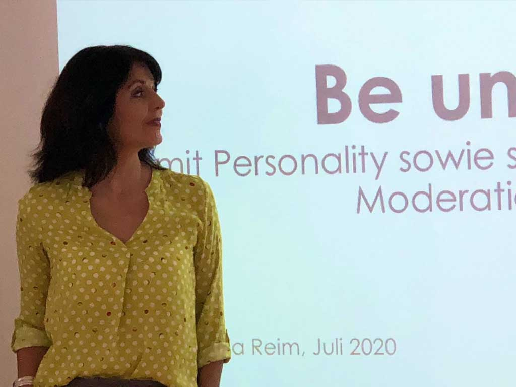 Moderation mit Personality mit Sylvia Reim