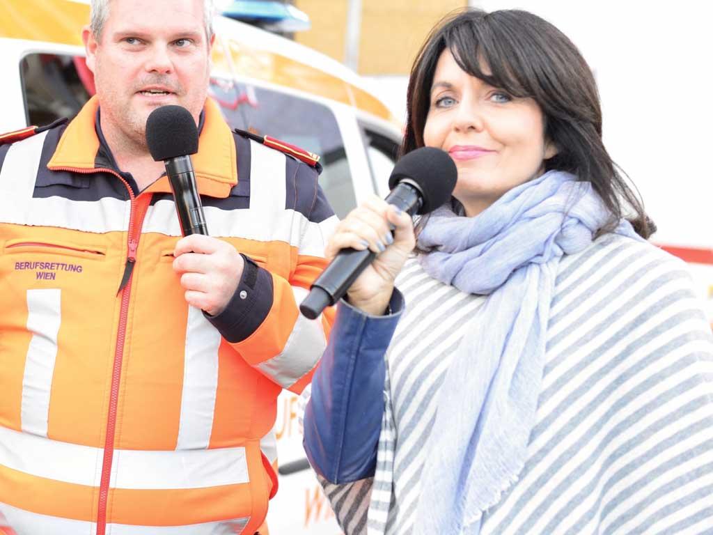Wiener Sicherheitsfest mit Moderatorin Sylvia Reim